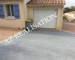 AZ REALISATION - Alignan du vent - béton drainant gris et beige