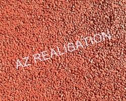 AZ REALISATION - Paulhan - Béton drainant coloré : TERRE CUITE