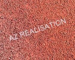 AZ REALISATION - Paulhan - Béton drainant coloré : ERABLE